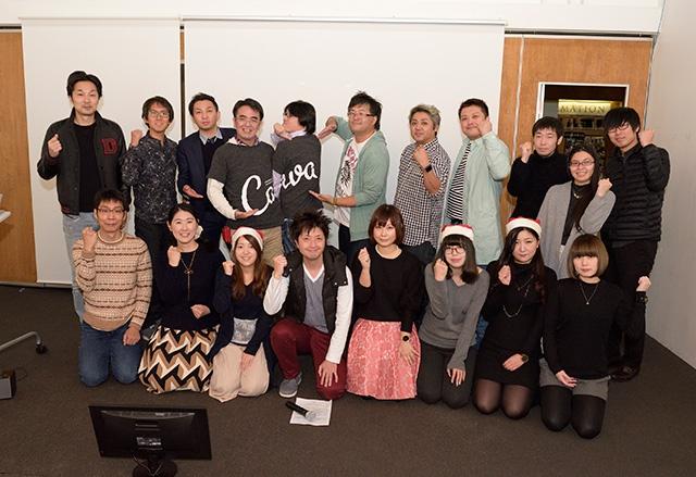写真:岡山WEBクリエイターズ年末スペシャル2017での登壇者とスタッフのみなさんの集合写真。