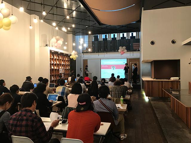 写真:第40回岡山WEBクリエイターズ「webクリエイターのための情報交換所」セッション中の様子。