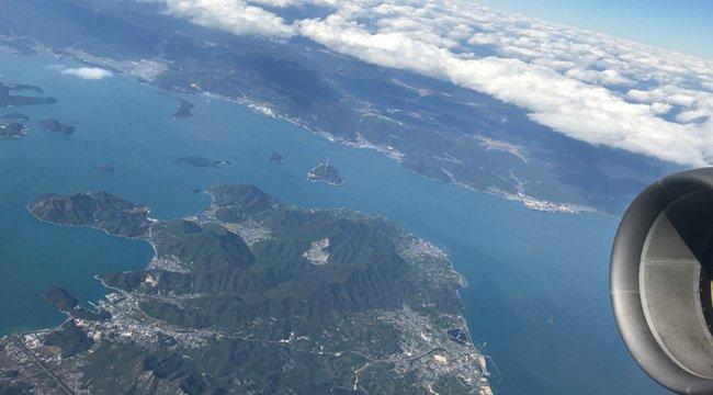 大三島上空(松山行きの機内より撮影)